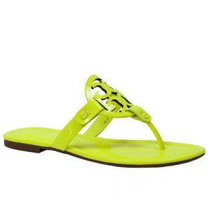 Tory Burch Fluorescent Neon Yellow Miller Size 7